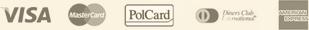 VISA, MasterCard, PolCard, Diners Club, American Express